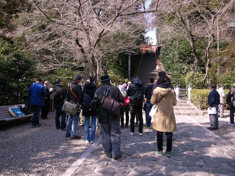出発地点は大崎八幡宮の太鼓橋