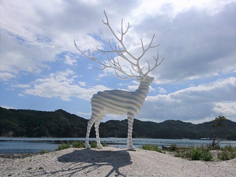 """""""White Deer (Oshika)"""" 作・名和晃平"""