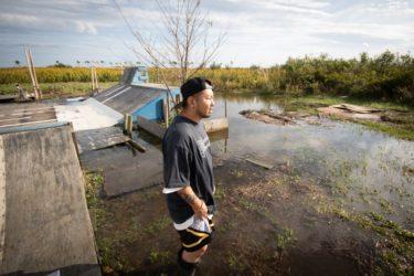 排水機能が無くなった3.11被災地で大雨の度に冠水 仙台市荒浜のスケートパーク