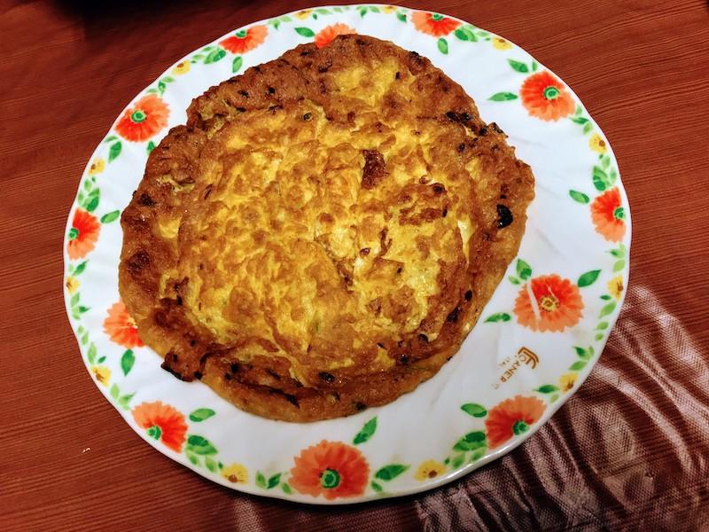 菜脯蛋(ツァイプータン)。台湾風干し大根と玉子焼き