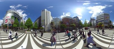 休業要請解除後の仙台中心部の変化を360度カメラで撮影した