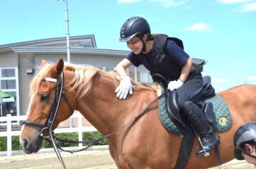 快晴の仙台の海辺で、人生初の乗馬体験をしてきた!
