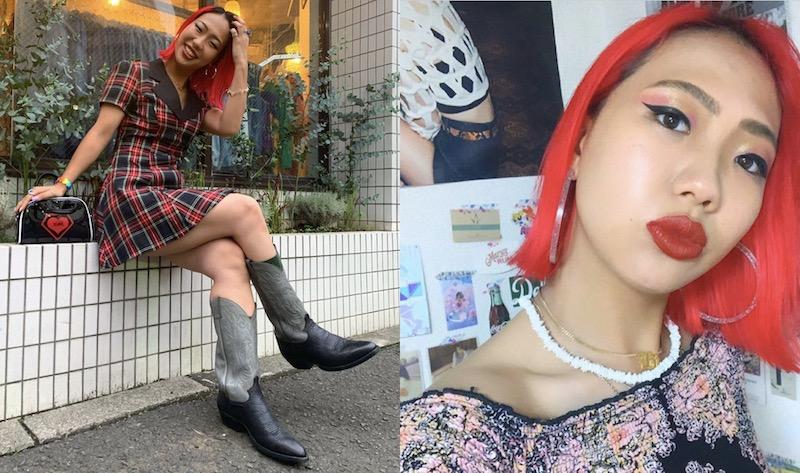 トレードマークのカラフルなヘアースタイルと好きな服を着ているというファッション。カジュアルな時もセクシーさやキュートさをイメージしているそう