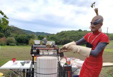 茶碗を作ることから始めるお茶会「野点」宮城県村田町寒風沢で開催