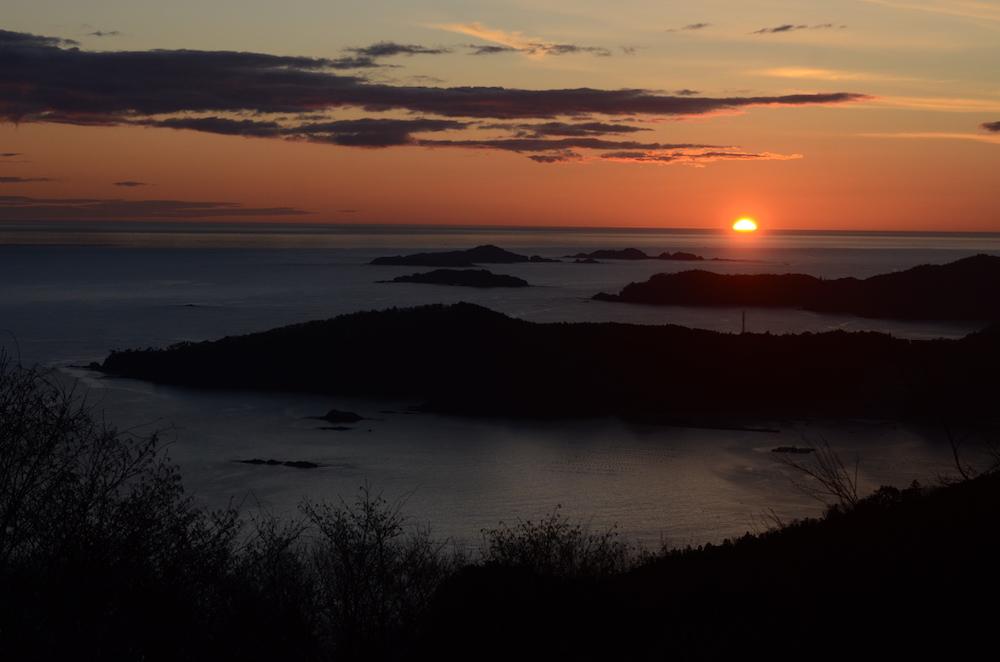 コバルトライン「大六天山展望台」もお気に入り撮影地点(2020.2.14撮影)
