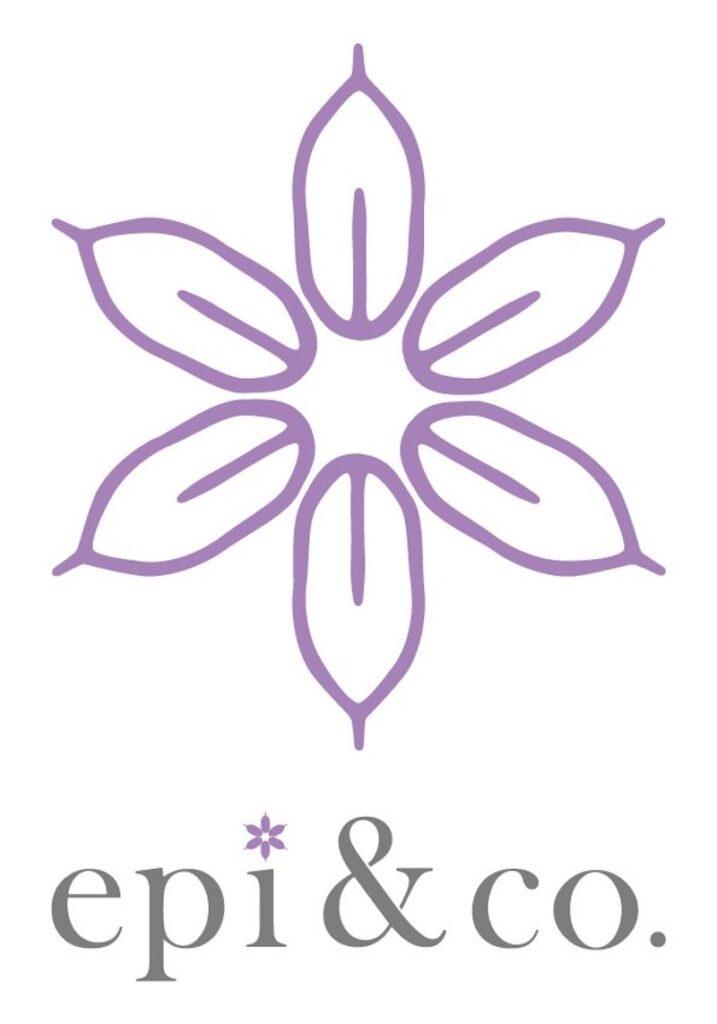 epi&companyのロゴマーク。「東北の女性のための会社」を表現するため、東北6県を6本の穂でイメージした